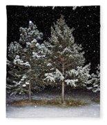 Dreaming In The Night Fleece Blanket
