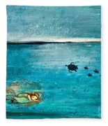 Dreaming Mermaid Fleece Blanket