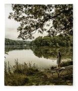 Dreaming Of Fishing At Argyle Lake Fleece Blanket