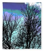Dreaming Of Spring Through Icy Trees Fleece Blanket