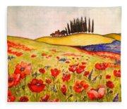 Dreaming Of Tuscany Fleece Blanket