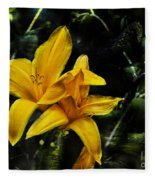 Dreams Of A Day Lily Fleece Blanket