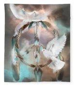 Dreams Of Peace Fleece Blanket