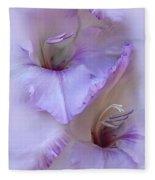Dreams Of Purple Gladiola Flowers Fleece Blanket