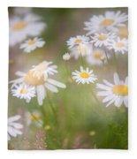 Dreamy Daisies On Summer Meadow Fleece Blanket