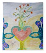 Dreamy Heart Fleece Blanket