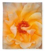 Dreamy Orange Rose Fleece Blanket