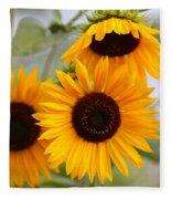 Dreamy Sunflower Day Fleece Blanket