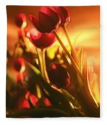 Dreamy Tulips Fleece Blanket
