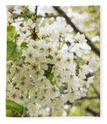 Dreamy White Cherry Blossoms - Impressions Of Spring Fleece Blanket