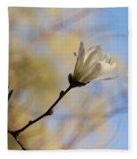 Dreamy Wild Magnolia In The Forest Fleece Blanket