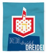 Dreidels Fleece Blanket