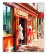Dress Shop Fells Point Md Fleece Blanket
