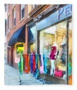 Hoboken Nj Dress Shop Fleece Blanket