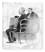 Dreyfus Affair 1899 Fleece Blanket