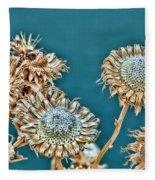 Dried Flowers Fleece Blanket