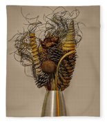 Dried Flowers Fleece Blanket