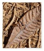 Dried Leaf Fleece Blanket