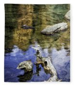 Driftwood And Reflections Fleece Blanket