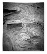 Driftwood Butte Bw 1 Fleece Blanket