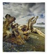 Driftwood On Rialto Beach Fleece Blanket