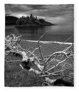 Driftwood On The Shore Near Wawa Ontario Canada Fleece Blanket