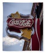 Drink Coca Cola Sign Fleece Blanket