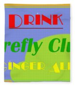 Drink Firefly Club Ginger Ale Fleece Blanket