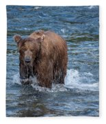 Dripping Grizzly Fleece Blanket