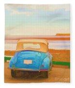 Drive To The Shore Fleece Blanket