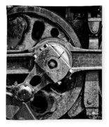 Drive Wheel - 190 - Bw Fleece Blanket