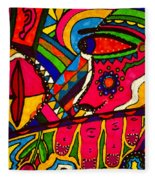 Driven To Abstraction - Parts And Pieces Fleece Blanket