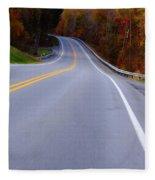 Driving Through Fall Fleece Blanket