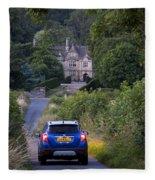 Driving To Manor House Fleece Blanket