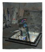 Droid Discovering A Weapons Cache Fleece Blanket