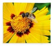 Drone Bee Fleece Blanket