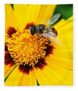 Drone Bee Fleece Blanket