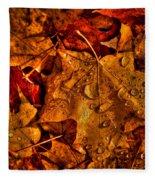 Droplets Of Autumn Fleece Blanket