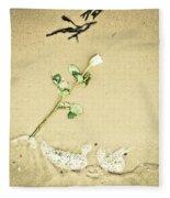 Dropped Flower Fleece Blanket