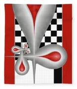 Drops On A Chess Board Fleece Blanket