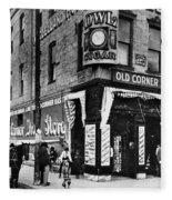Drug Store, 1890s Fleece Blanket