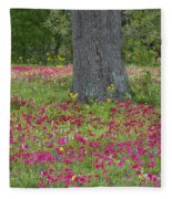 Drummonds Phlox And Crown Tickweed Central Texas Fleece Blanket