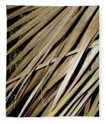 Dry Palm Leaves Fleece Blanket