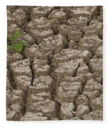 Dry Cracked Mud  Fleece Blanket