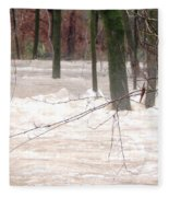 Dry Creek-but Swift Waters Fleece Blanket