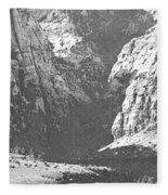 Dry Desert Waterfall Pencil Rendering Fleece Blanket