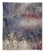Dry Grasses And Bare Trees Fleece Blanket