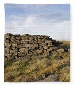 Dry Stone Wall Fleece Blanket