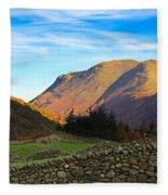Dry Stone Walls In Patterdale In The Lake District Fleece Blanket