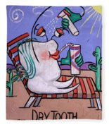 Dry Tooth Dental Art By Anthony Falbo Fleece Blanket
